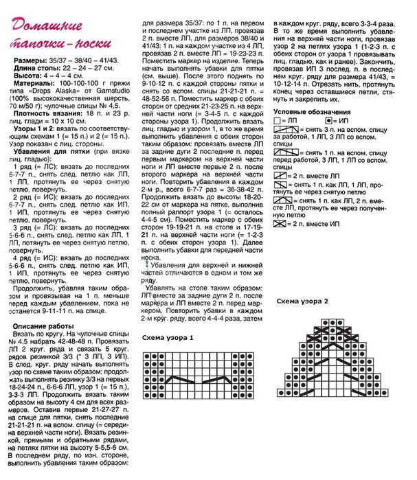 Вязание носков и следков спицами схемы и описание 166