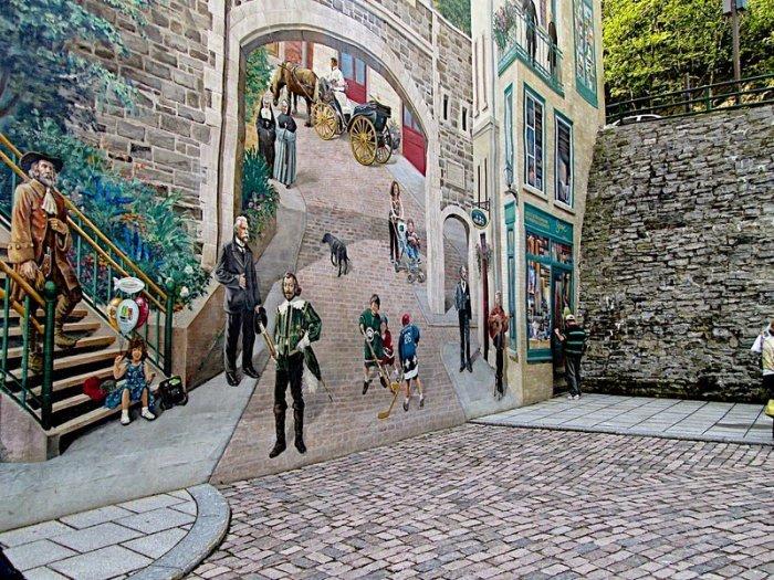 граффити на домах квебека фото 4 (700x525, 497Kb)