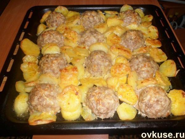 мясные ежики с картошкой под сыром (600x450, 241Kb)