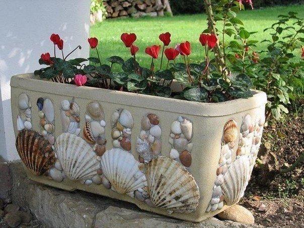 Декорируем горшок для цветов
