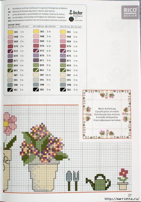 вышивка для скатерти. Птички, белочки, грибочки, листья (41) (488x700, 254Kb)