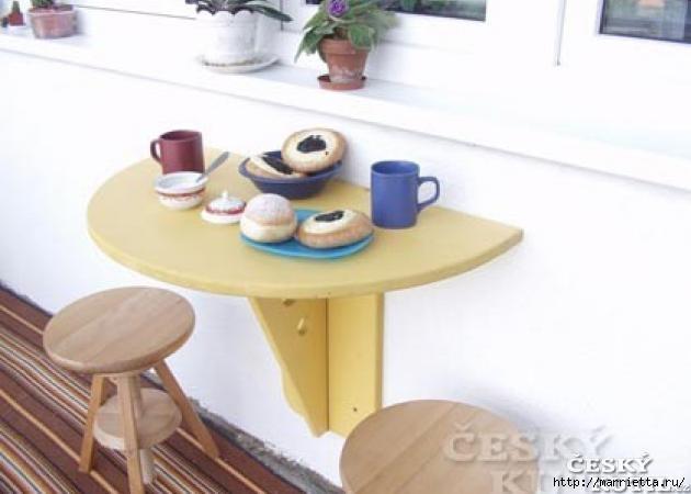 Складной столик для балкона своими руками (1) (630x450, 91Kb)