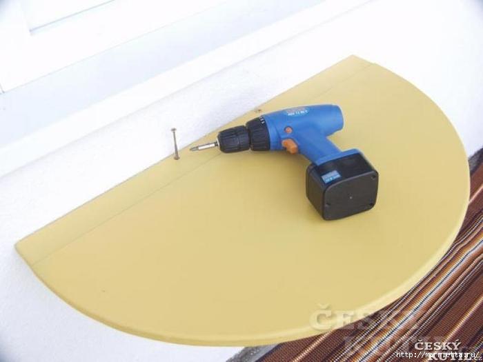 Складной столик для балкона своими руками (3) (700x525, 135Kb)