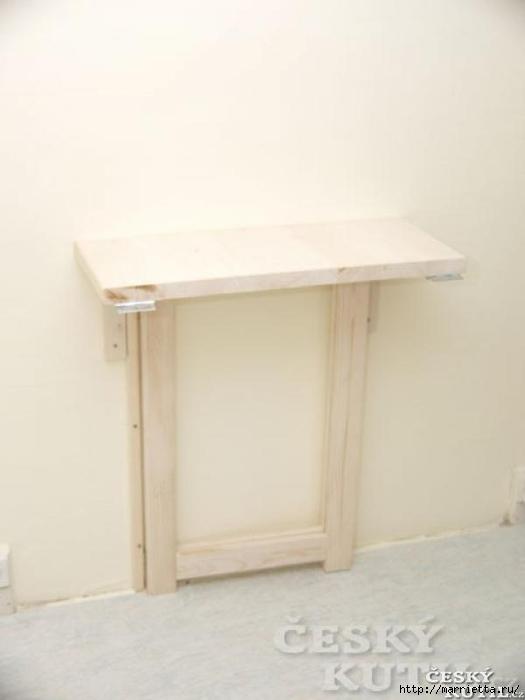 Складной столик своими руками для маленькой кухни (6) (525x700, 92Kb)