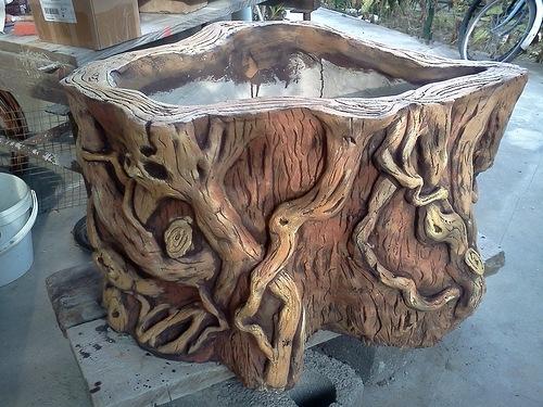 Дерево из бетона своими руками