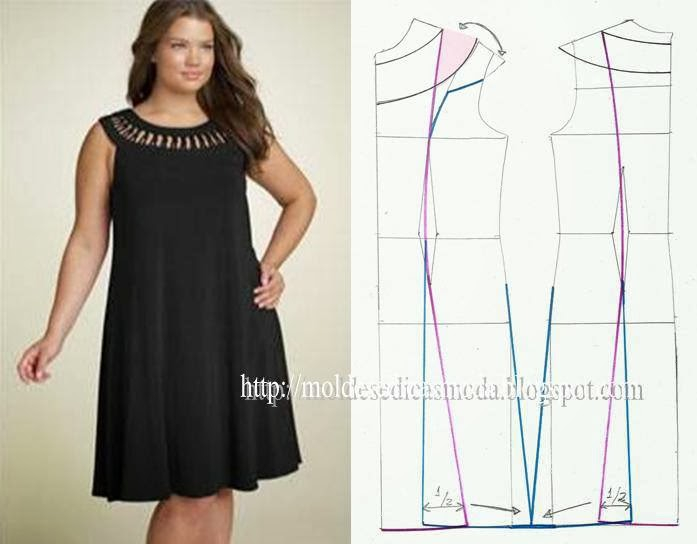 Как сшить летние платье для полных своими руками