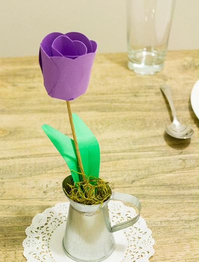 Детское творчество к 8 марта. Тюльпаны из бумаги (7) (400x525, 261Kb)