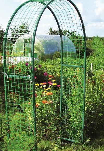Как своими руками сделать арку для вьющихся растений