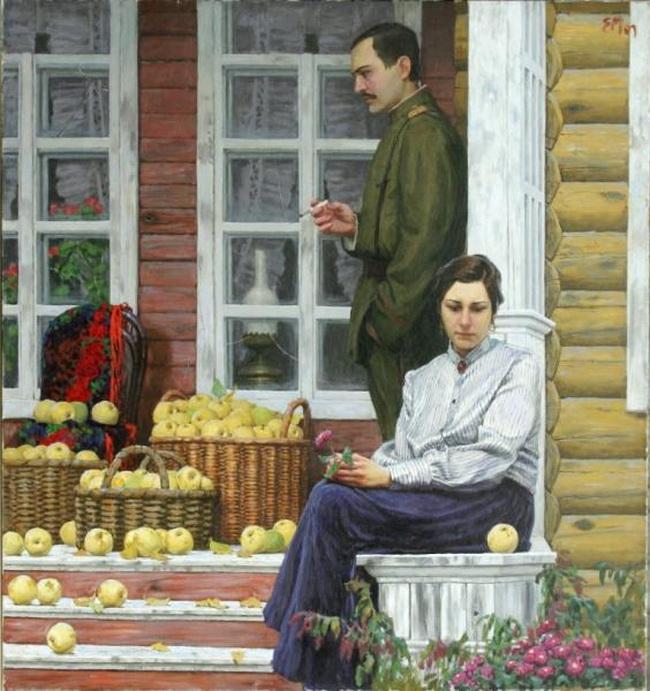 бунин антоновские яблоки картинки