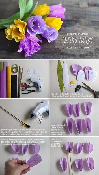 Яркие весенние тюльпаны из креповой бумаги4 (343x604, 181Kb)