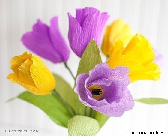 Яркие весенние тюльпаны из креповой бумаги3 (560x453, 102Kb)