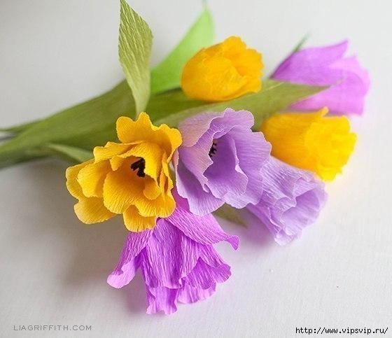 Яркие весенние тюльпаны из креповой бумаги1 (560x483, 118Kb)