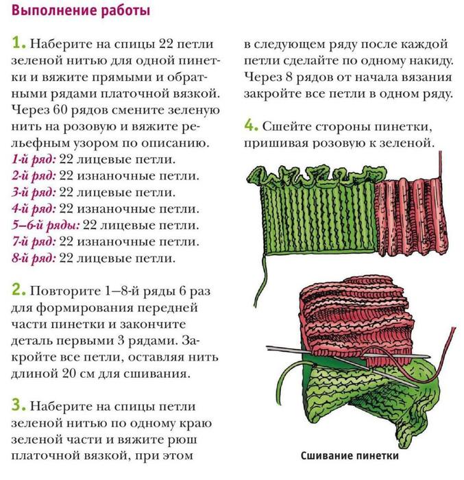 Вязание спицами для начинающих пинетки на 2 спицах 441