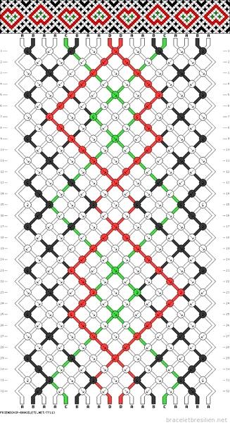 Схемы к фенечкам ромбиком