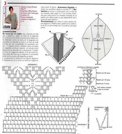 poncho tunica tejida patrones crochet2 (499x548, 355Kb)