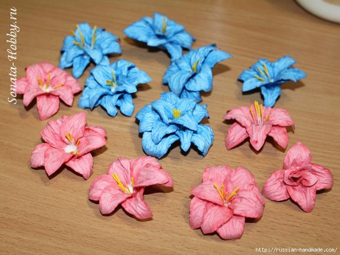 Бумагопластика. Цветы из акварельной бумаги (2) (700x525, 304Kb)