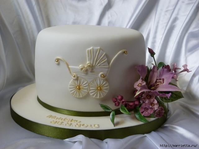 Марципановые торты в честь новорожденного (48) (640x480, 107Kb)