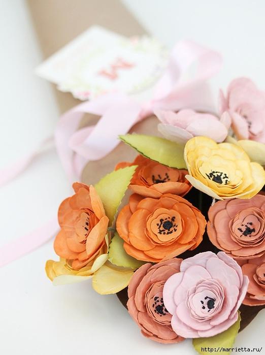 Бумагопластика. Букет цветов к 8 марта (5) (522x700, 210Kb)