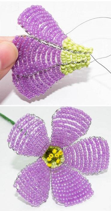 нежные цветы из бисера (4) (370x700, 277Kb)
