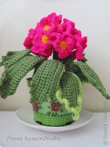 Как вязать цветы в горшочке