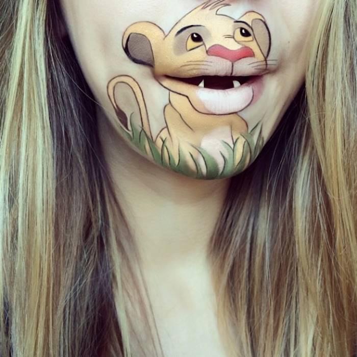 прикольный боди-арт на губах Лауры Дженкинсон 6 (700x700, 292Kb)