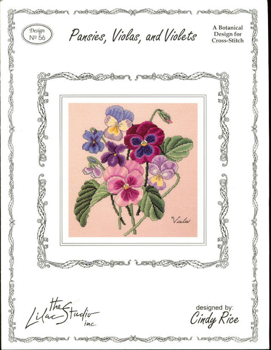 The Lilac Studio 56 Pansies, Violas and Violets (543x700, 302Kb)