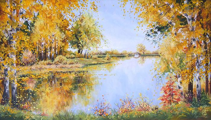 4.Осенний пруд (700x399, 491Kb)