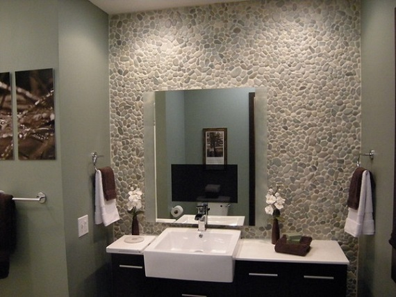 Natural stone sinks bathroom