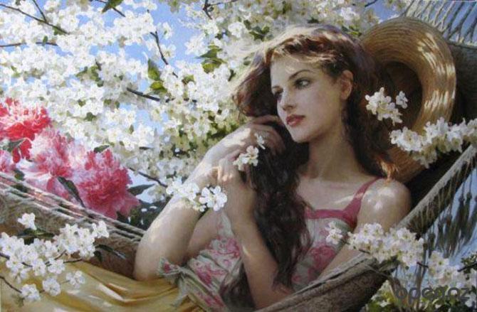 весна и женщина 1 (670x439, 264Kb)