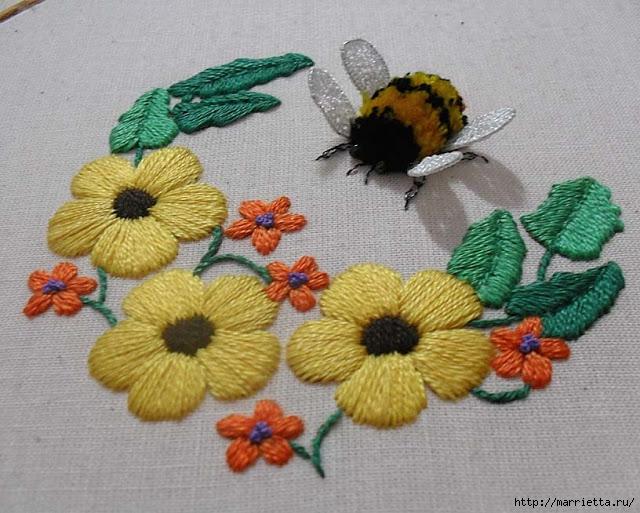 Объемная вышивка. Как вышить крылья бабочки (2) (640x513, 233Kb)
