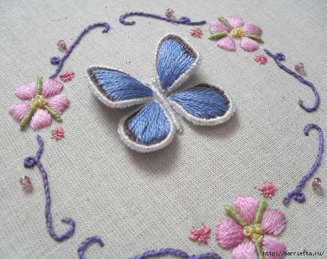 Объемная вышивка. Как вышить крылья бабочки (6) (640x508, 288Kb)