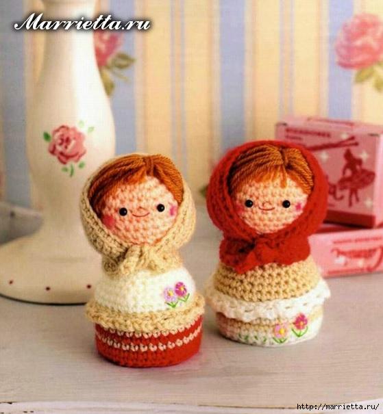 Куколки МАТРЕШКИ амигуруми