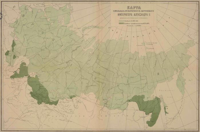 05 -Карта_земельных_приобретений_в_царствование_императора_Александра_II,_1882 (700x461, 470Kb)