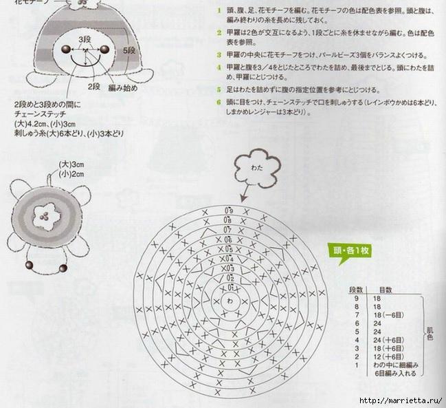Совушки и черепашки амигуруми крючком (11) (649x593, 232Kb)