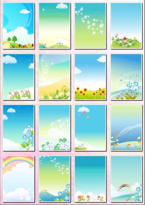 Фоны цветочные для оформления творческих работ, А4, часть 10. 35  png
