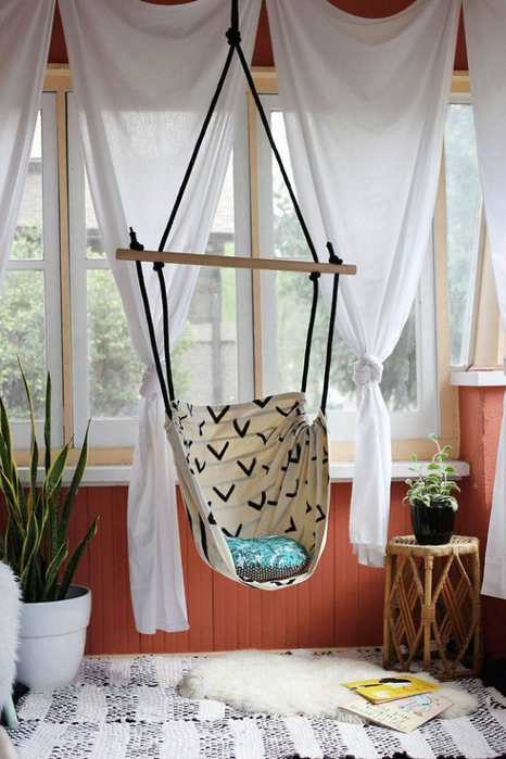 OUTREE Kids Pod Hanging Swing Seat Hammock 100cotton