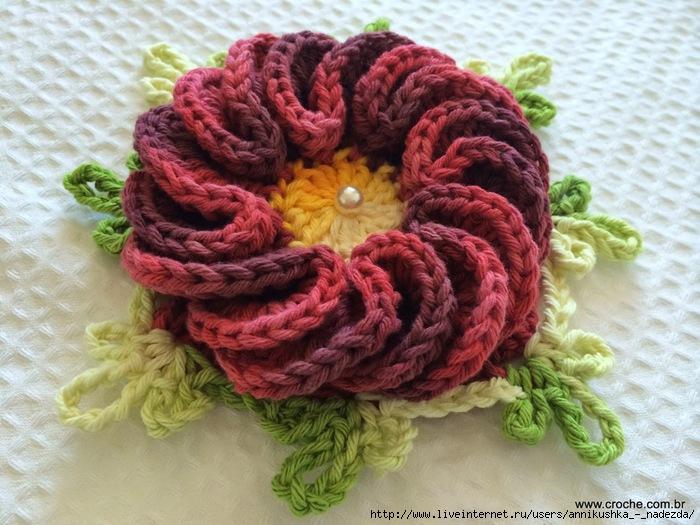 Flor anelada passo a passo - www.croche.com (56) (700x525, 237Kb)