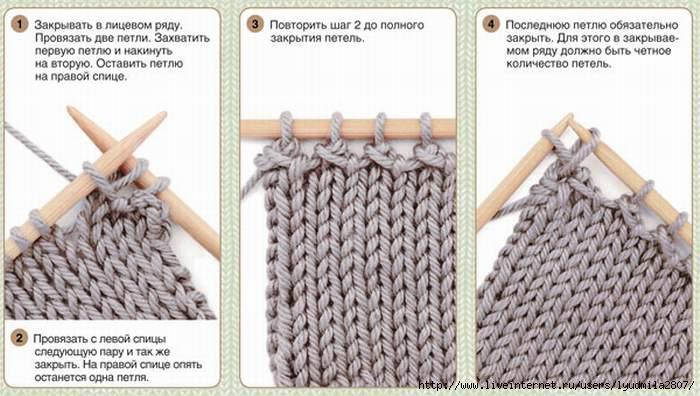 Вязание как заканчивать изделие