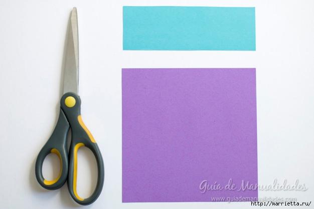 Водяная лилия из бумаги в технике оригами (2) (626x417, 107Kb)