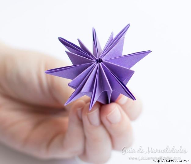 Водяная лилия из бумаги в технике оригами (9) (626x537, 112Kb)