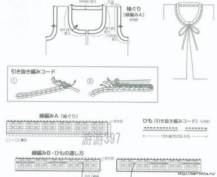Жилет и летняя жакетка спицами по одной схеме (4) (700x571, 170Kb)
