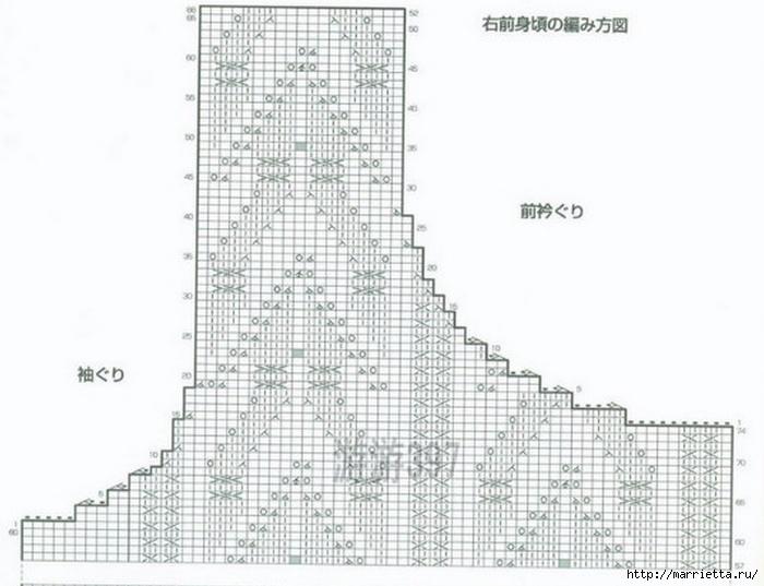 Жилет и летняя жакетка спицами по одной схеме (6) (700x537, 187Kb)