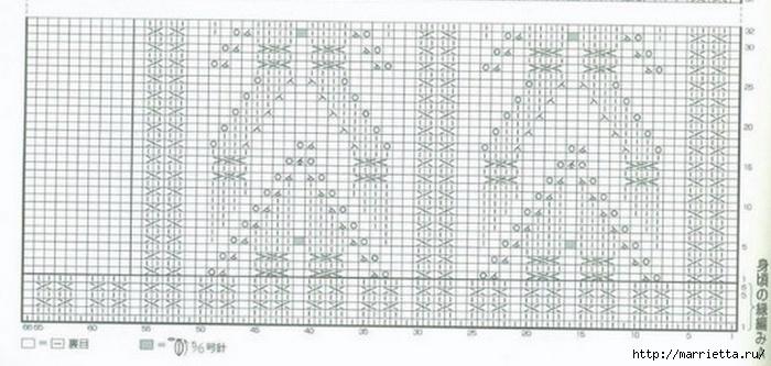 Жилет и летняя жакетка спицами по одной схеме (7) (700x333, 188Kb)