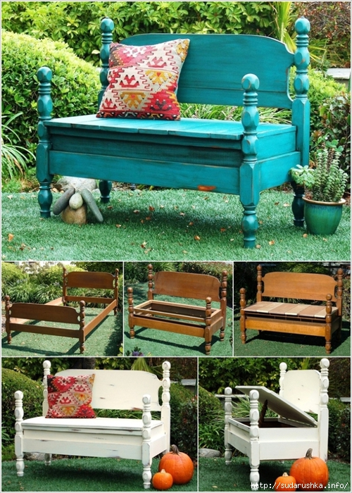 Turn-Old-Beds-into-Garden-Bench (500x700, 385Kb)