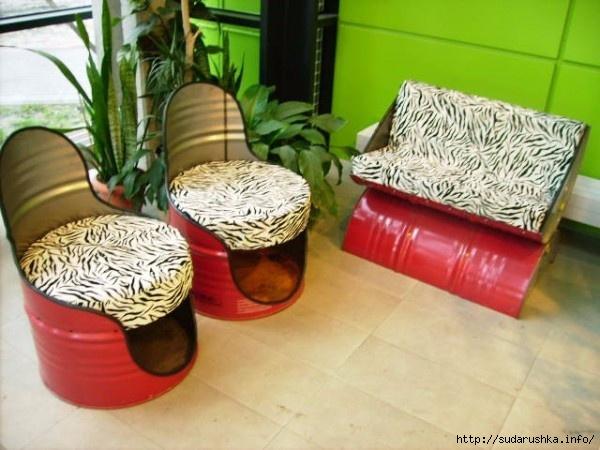 Мебель из бочки
