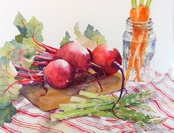 Cecile Kirkpatrick--beets and asparagus (600x460, 313Kb)