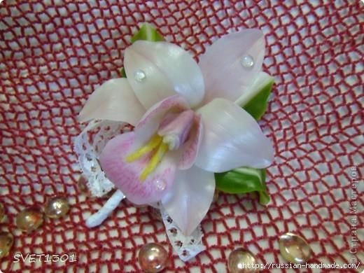 Орхидея цимбидиум из холодного фарфора. Мастер-класс (2) (520x390, 160Kb)
