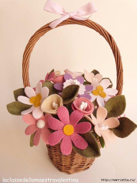 Букет цветов из фетра или флиса (1) (480x640, 129Kb)