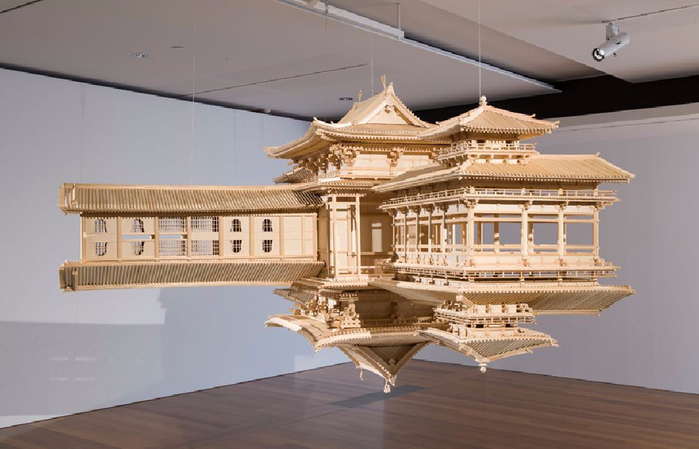 деревянная копия храма Byodo-в 2 (700x449, 255Kb)