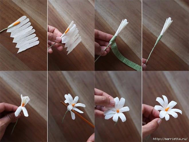 Как сделать маленькие цветы из бумаги своими руками пошагово